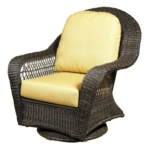 NorthCape International Charleston Swivel Glider Club Chair