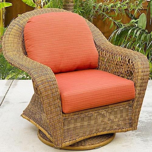 NorthCape International Charleston Swivel Glider Club Chair