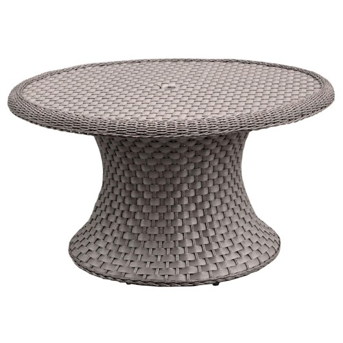 NorthCape International Covington Round Chat Table w/ Glass