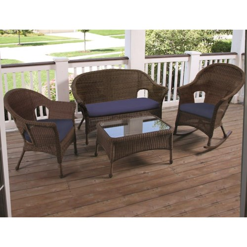 NorthCape International Darby Outdoor Four Piece Chat Set