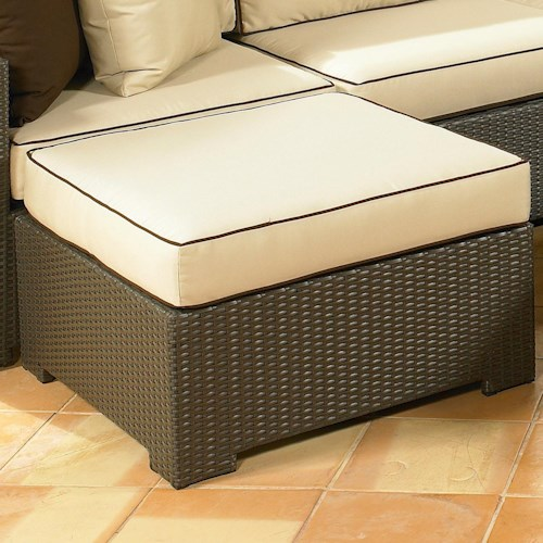 NorthCape International Malibu Sleek Square Ottoman w/ Cushion