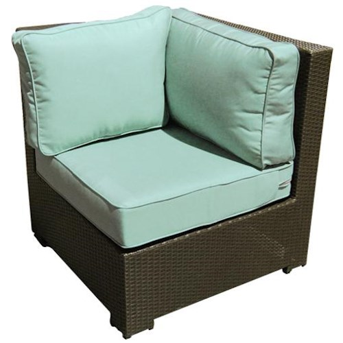 NorthCape International Malibu Sectional Corner Chair w/ Cushion