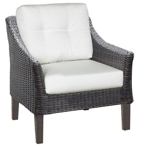 NorthCape International San Marino Lounge Chair with Seat and Back Cushion