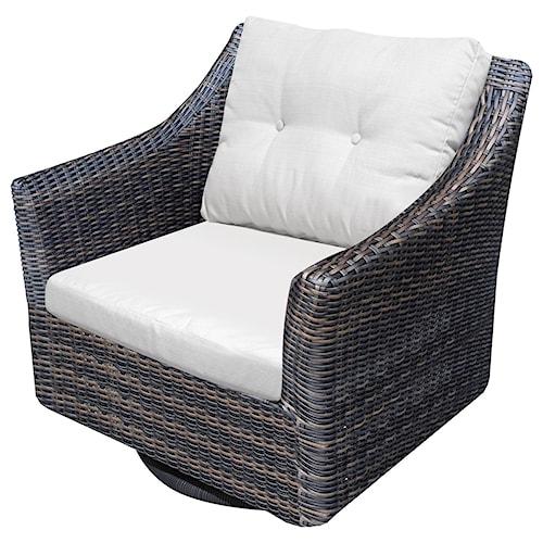 NorthCape International San Marino Woven Premium Deep Seat Upholstered Outdoor Swivel Rocker
