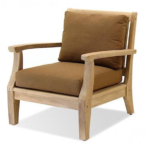 NorthCape International Teak Laguna Lounge Chair w/ Cushion