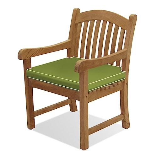 NorthCape International Teak Solano Dining Chair w/ Cushion