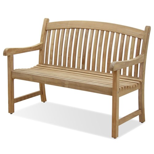 NorthCape International Teak Solano Two Seater Dining Bench