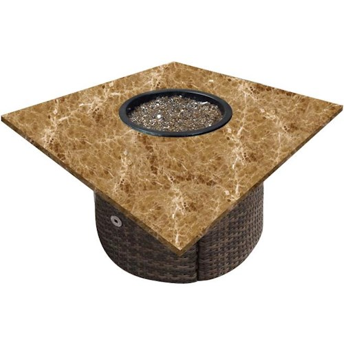 NorthCape International Tisdale Standard Weave Woven Base w/ Square Top Fire Pit