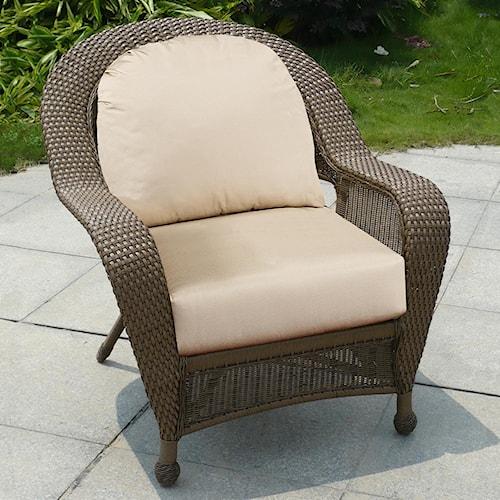 NorthCape International Winward Cocoa Woven Deep Seat Outdoor Chair w/ Cushion