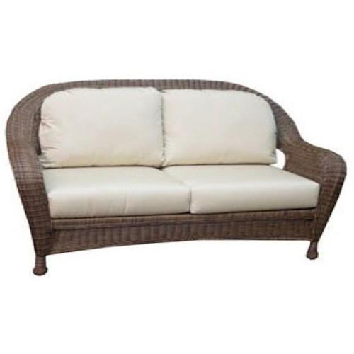 NorthCape International Wyndham Casual Loveseat with Curved Back and Box Cushions