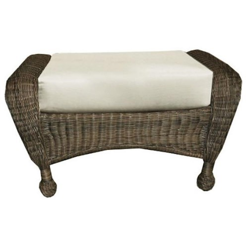 NorthCape International Wyndham Casual Ottoman with Rounded Feet