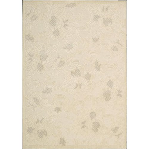 Nourison Graphic 5.3 x 7.5 Area Rug : Cream