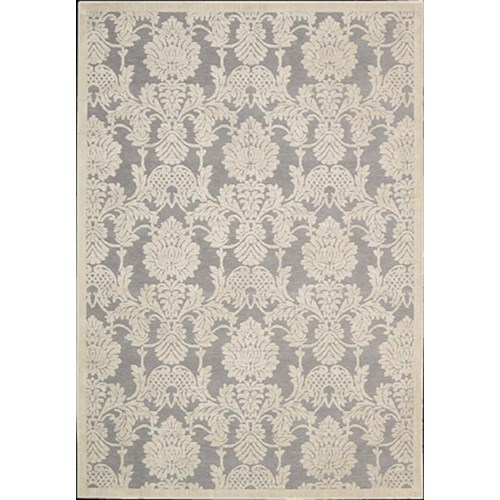 Nourison Graphic 7.9 x 10.10 Area Rug : Nickel