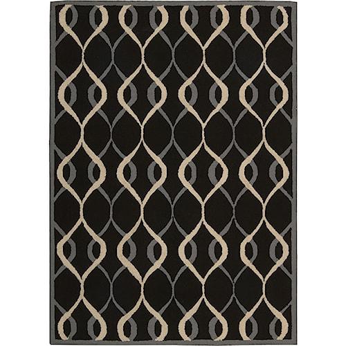 Nourison Decor 5' x 7' Black Area Rug