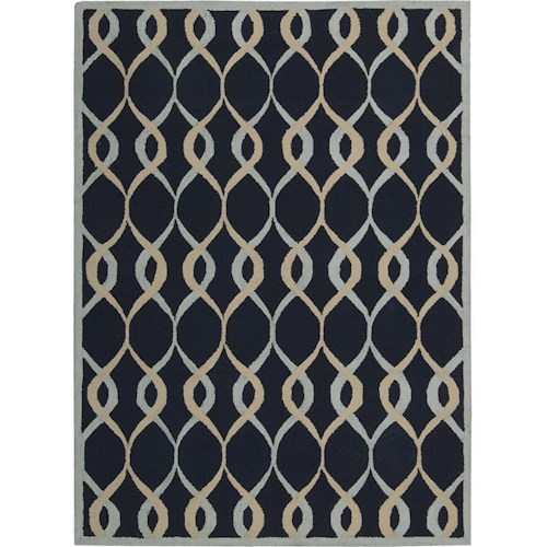 Nourison Decor 5' x 7' Navy Area Rug