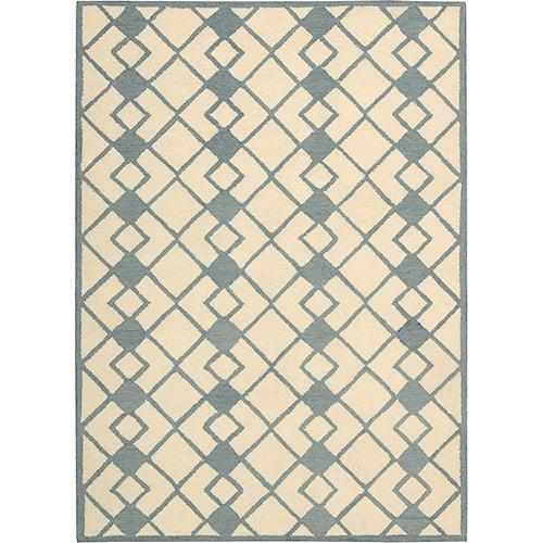 Nourison Decor 8' x 10' Ivory Blue Area Rug