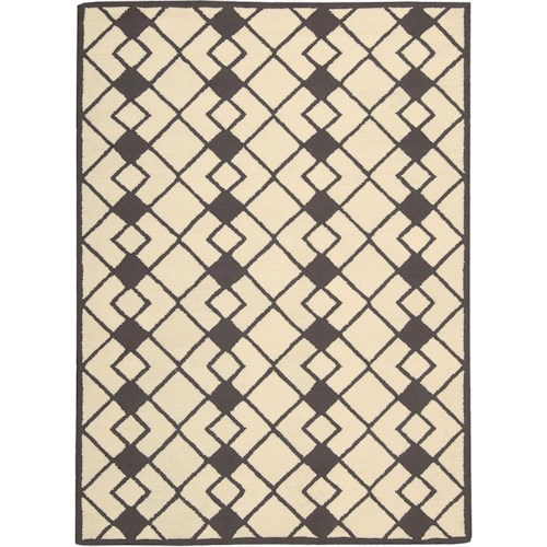 Nourison Decor 5' x 7' Ivory Grey Area Rug