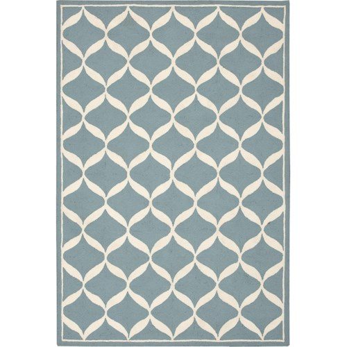 Nourison Decor 5' x 7' Aqua White Area Rug