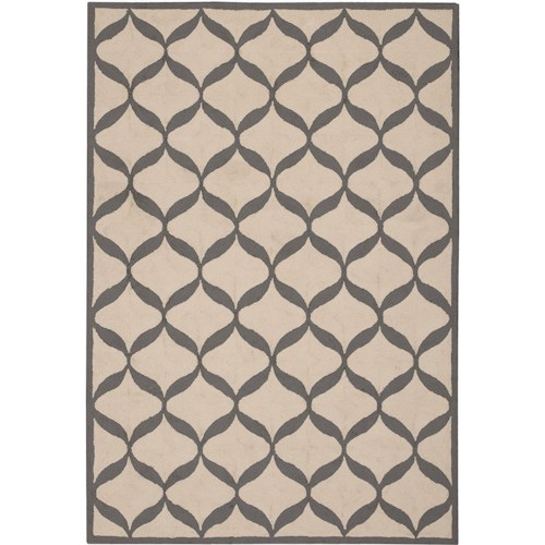 Nourison Decor 5' x 7' White/Light Grey Area Rug