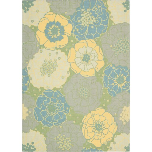 Nourison Home & Garden 10' x 13' Green Area Rug