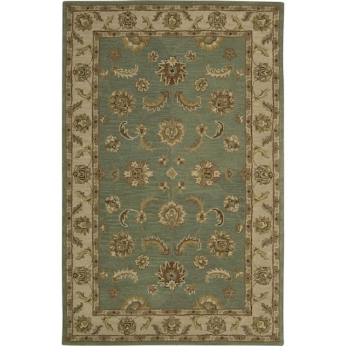 Nourison India House 5' x 8' Seafoam Area Rug