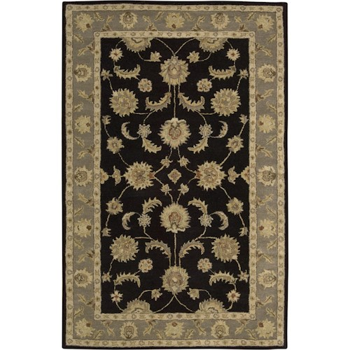 Nourison India House 5' x 8' Black Area Rug