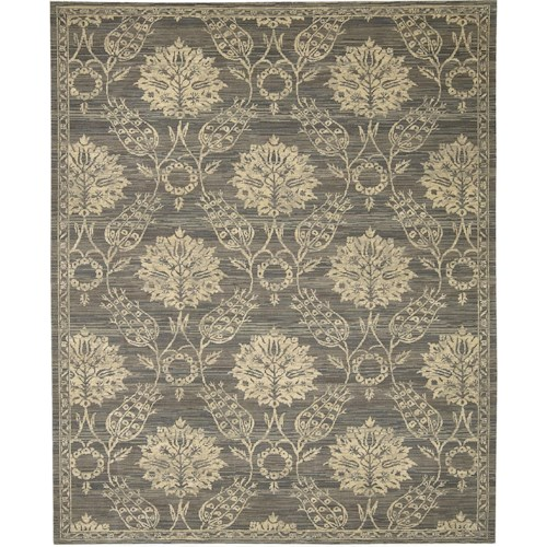 Nourison Silk Elements 12' x 15' Graphite Area Rug