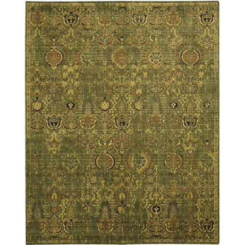 Nourison Timeless 12' x 15' Green Gold Area Rug
