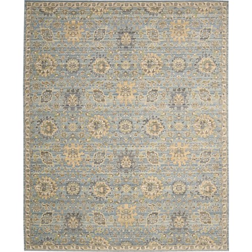 Nourison Timeless 12' x 15' Light Blue Area Rug