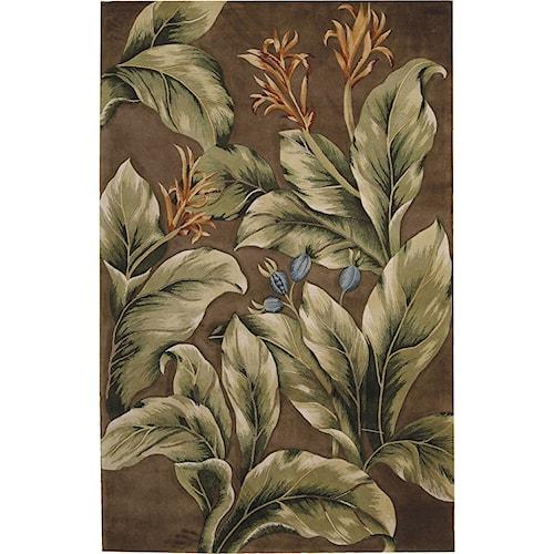 Nourison Tropics 8' x 11' Khaki Area Rug