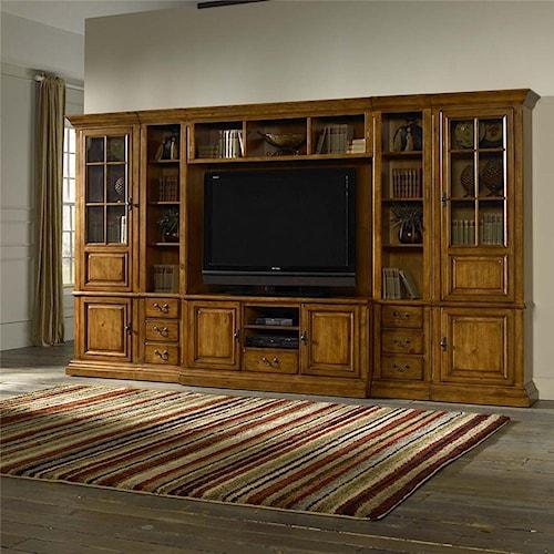 Morris Home Furnishings Newport 6pc Wall Unit