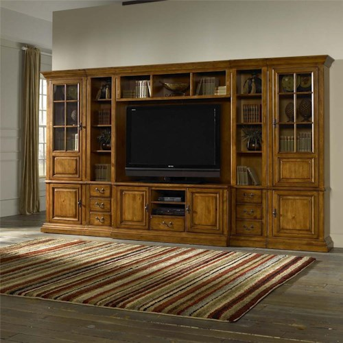 Morris Home Furnishings Newport 6pc Wall Unit