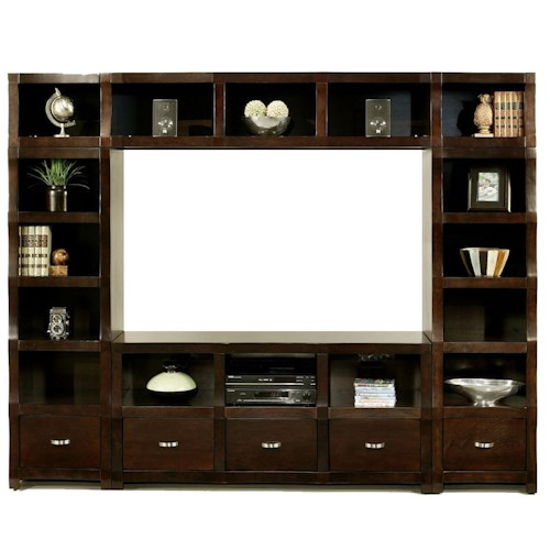 Morris Home Furnishings Cainhill Cubic Entertainment Wall Unit