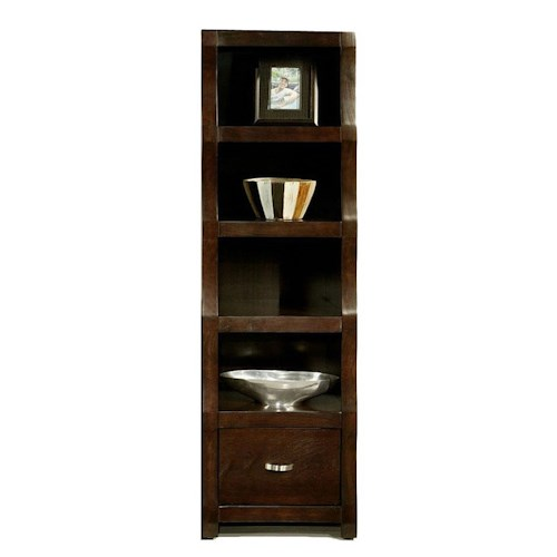 Morris Home Furnishings Cainhill 4-Shelf, 1-Drawer Open Bookcase