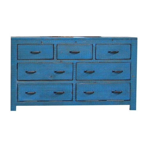 Morris Home Furnishings Frisco Dresser in Blue