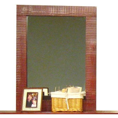 Morris Home Furnishings Frisco Mirror in Red