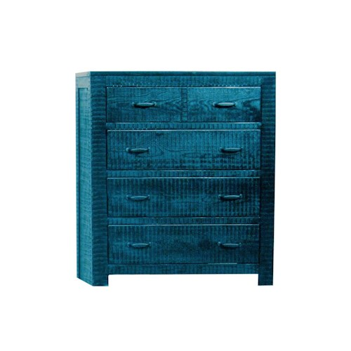 Morris Home Furnishings Frisco Chest in Blue