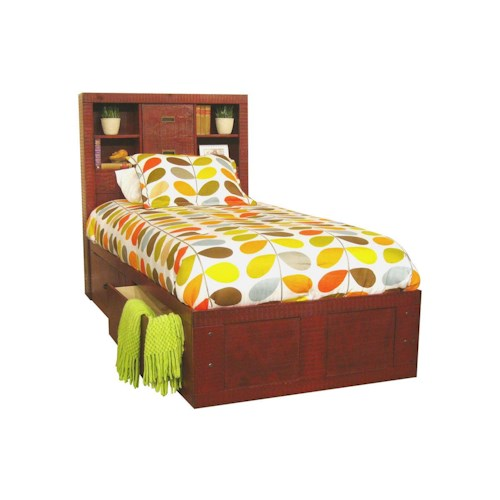 Morris Home Furnishings Frisco Twin Captain Bed with Storage