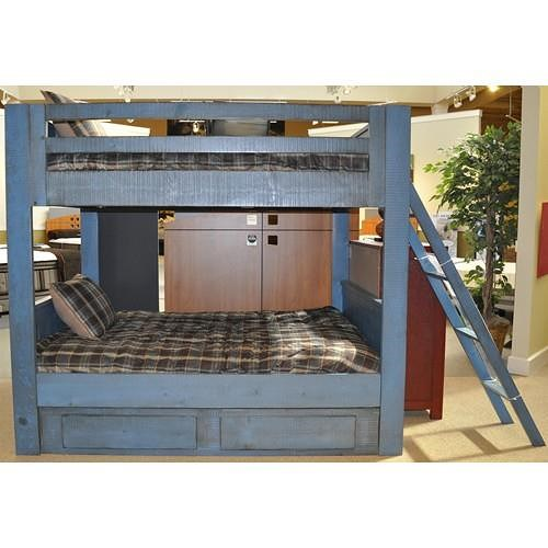 Morris Home Furnishings Frisco Twin Bunk Bed with Ladder