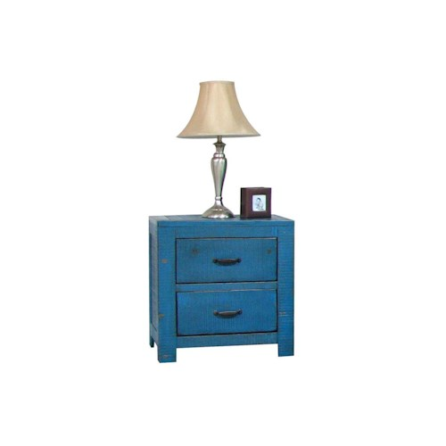 Morris Home Furnishings Frisco Nightstand in Blue