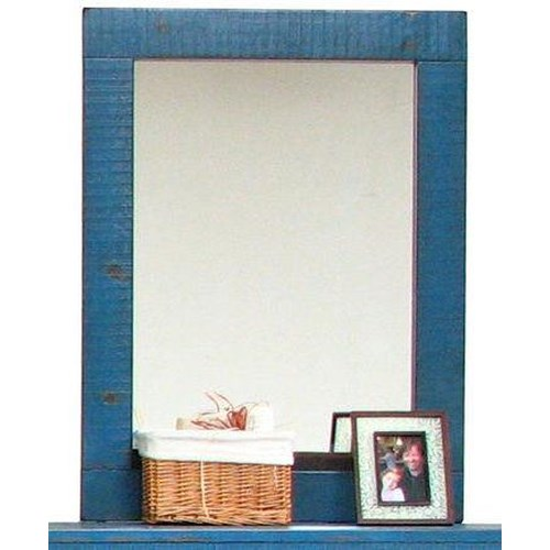 Morris Home Furnishings Frisco Mirror in Blue