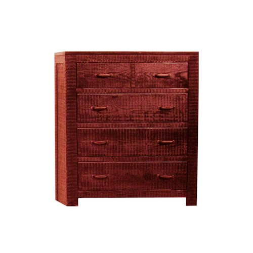 Morris Home Furnishings Frisco Chest in Red