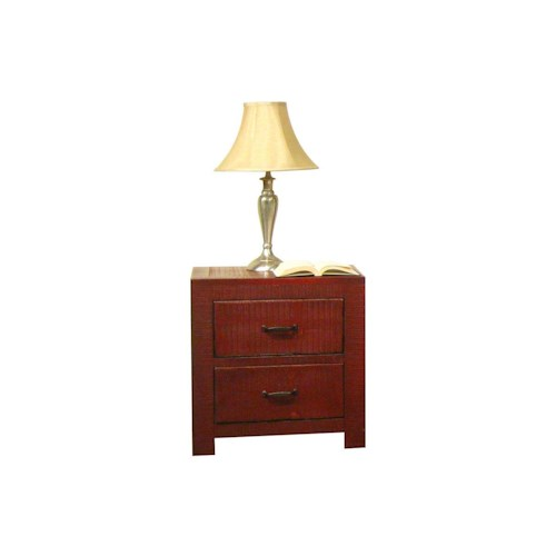 Morris Home Furnishings Frisco Nightstand in Red