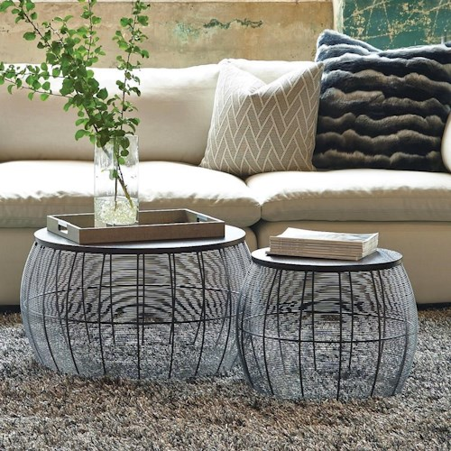 Office Star Tables Sets Round Metal Accent Tables
