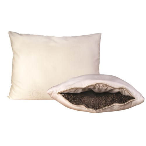 "Organic Mattresses, Inc. (OMI) Buckwheat Pillows Standard (26""x 20"") Certified Organic Wool-Wrapped Buckwheat-Hull Pillow"