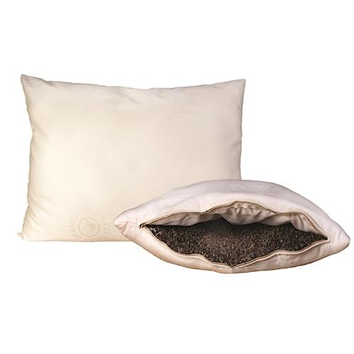 Organic Mattresses, Inc. (OMI) Buckwheat Pillows King Certified Organic Wool-Wrapped Buckwheat-Hull Pillow