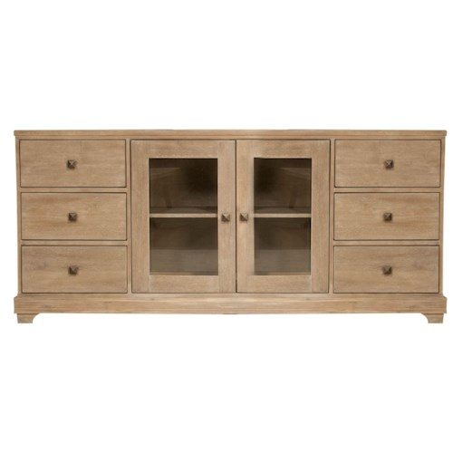 Orient Express Furniture Traditions Media Cabinet w/ 6 Drawer