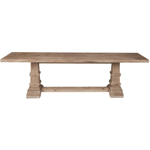 Orient Express Furniture Traditions Hudson Large Dining Bench with Trestle Base