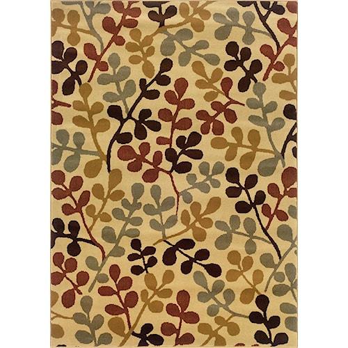 Oriental Weavers Amy 10 x 13 Area Rug : Beige