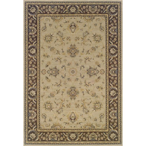Oriental Weavers Aspire Bordered 5.3 x 7.9 Area Rug : Beige